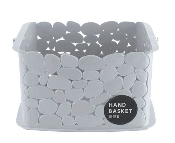 Blue Canyon Pebble Storage Basket With Handles - Black